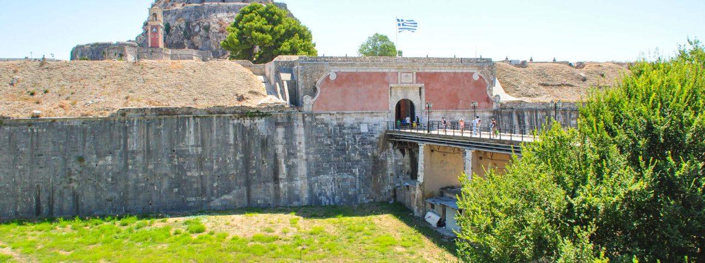 Het oude fort van Corfu